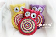Pattern Crochet Owl Cushion