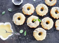 Donuts are basically dessert for breakfast and these are no exception. These donuts are light, airy and yeast-free so you can eat them even faster! Donut Muffins, Oreo Cupcakes, Breakfast Pancakes, Recipe Notes, Serving Size, Lemon, Healthy Recipes, Baking, Desserts