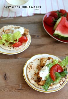 3 Easy Weeknight Meals Part 1 - Recipes from Say Yes