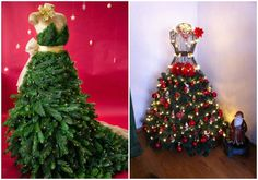 15 seriously creative ideas to help you get the perfect Christmas tree Ladder Christmas Tree, Cardboard Christmas Tree, Christmas Tree Dress, Creative Christmas Trees, Christmas Tree Painting, Old Christmas, Outdoor Christmas Decorations, Beautiful Christmas, Holiday Decor