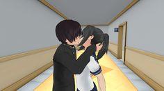 Yandere chan x senpai kisss by Angelacute234.deviantart.com on @DeviantArt