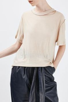 Reverse Seam Tee by Boutique