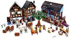 Expand your LEGO® Castle kingdom! Kingdom Theme Medieval Market Village Item: 10193 Add European style to your LEGO® Castle kingdom with this Medieval Market Village, includes all-new animals, rare elements, colors, more! Lego Castle, Model Building Kits, Building Toys, Building Plans, Lego City, Toys For Girls, Kids Toys, Chateau Lego, Castle Series