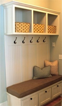 Dear Husband, please can our next house have a big enough entrance hallway for t. Dear Husband, please can our next house have a big enough entrance hallway for this? Porch Storage Bench, Bench With Storage, Wall Storage, Storage Baskets, Shoe Storage, Entryway Bench, Hall Storage Ideas, Garage Entryway, Ikea Entryway