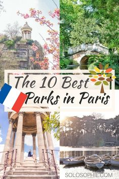 10 Best Green Spaces, Gardens & Parks in Paris Worth Visiting. Here's where you should go to enjoy a Parisian picnic, go for a boat ride, or see some sun in Paris, France #paris #nature