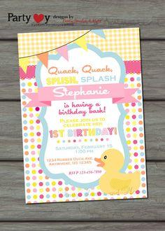 Rubber Duck Birthday Invitation Rubber Duck by PartyInvitesAndMore, $10.00