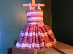 How to Crochet Easy Baby Dress - for newborn photos - YouTube