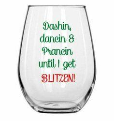 Cheeky drink glass for Christmas