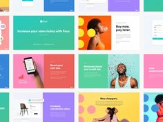 Colorful Sales Deck Presentation by Janna Hagan over on dribbble Ppt Design, Slide Design, Deck Design, Layout Design, Branding Design, Keynote Design, Tech Branding, Booklet Design, Identity Branding