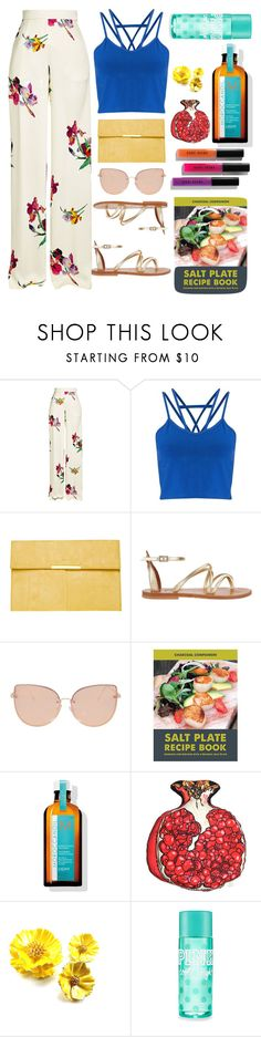 """Tropical"" by gmoro ❤ liked on Polyvore featuring Etro, Miss Selfridge, Dorothy Perkins, K. Jacques, Topshop, Improvements, Bobbi Brown Cosmetics and Silken Favours"