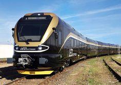 "Stadler ""Leo Express"" Db Ag, New York Central Railroad, Bonde, S Bahn, Model Train Layouts, Busses, Train Travel, Model Trains, Transportation"