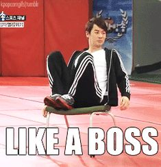 JunJin doesn't even have to TRY to be a boss. It just comes naturally to him.
