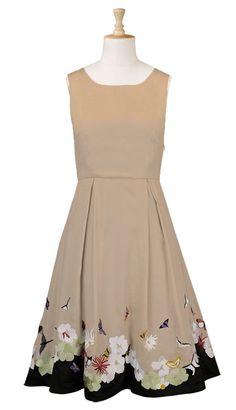 $65, florals, pretty dresses, dress, dresses, bridesmaids dress, khaki dress, ecru dress
