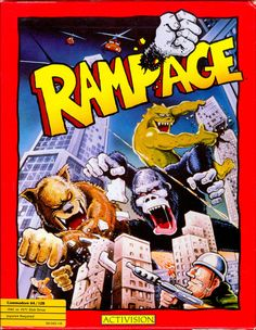 Rampage for Commodore 64 - MobyGames Vintage Video Games, Classic Video Games, Retro Video Games, Retro Games, Video Game Posters, Video Game Art, Playstation, Pc Engine, Games