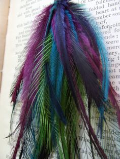 Feathers  Coloured feathers  Feather Jewellery  Craft by heidihaha, $8.00