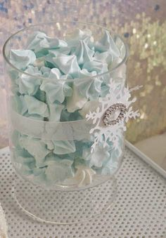 Pretty blue meringues at an Elegant Frozen girl birthday party! See more party… Disney Frozen Party, Frozen Themed Birthday Party, 3rd Birthday Parties, Girl Birthday, Birthday Celebration, Frozen Birthday Favors, Frozen Themed Food, Frozen Party Food, Frozen Party Favors