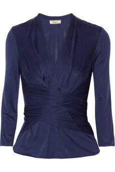 Issa Wrap-effect silk-jersey top | NET-A-PORTER