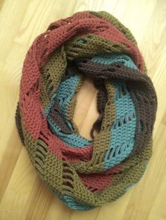 Crochet infinity scarf JOLITA by NerriPango on Etsy