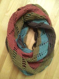 Crochet infinity scarf JOLITA by NerriPango on Etsy