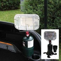 Universal Golf Cart Portable Propane Heater with Convenient Cup Holder
