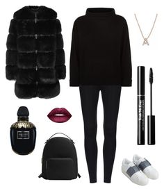 """Sin título #18"" by clanigu on Polyvore featuring moda, Givenchy, Jaeger, Valentino, MANGO, Lime Crime, Alexander McQueen y Bony Levy"