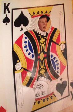 Full Size Plywood Face cut out King of Spades
