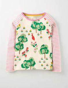 Gousse de Vanille Lapin Prairie T-shirt Raglan Boden