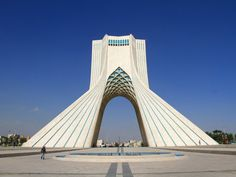 The Azadi Tower marks the entrance to the capital city.