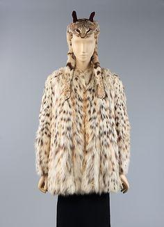 Ensemble (cat coat and hat) Elsa Schiaparelli, 1938-1939 @vintageclothin.com