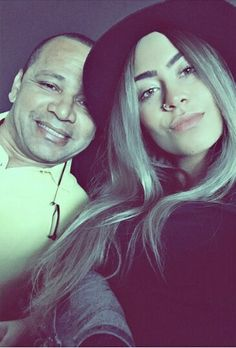 Rafa with her dad yesterday