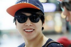 Smiling Sungmin at Gimpo Airport to Japan (140812)