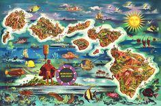 Vintage Hawaii 1000 Piece Jigsaw Puzzle