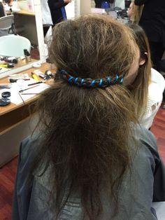 Hair up on the VET girls today #bighair #allteasedup