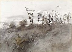 wyeth paintings | Andrew Wyeth Paintings - Andrew Wyeth November First Painting