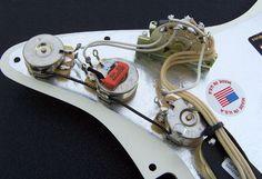 Custom Built Complete Strat Pickguard Assembly - Built With Fender Custom Shop Texas Special Pickup Set