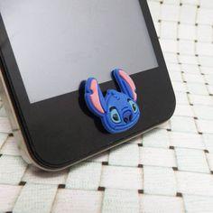 Disney Cartoon Lilo Baby Blue Stitch DIY Home Button by MilanDIY, $2.48