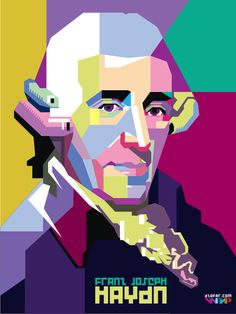 Frank Joseph Haydn by ndop Pop Art Portraits, Portrait Art, Pop Art Illustration, Vector Portrait, Arte Popular, Weird Pictures, Face Art, Art Techniques, Caricature