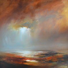 Sienna Sky Renborn100x100cm Oil on canvas