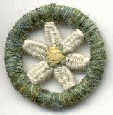 Dorset button daisy needleweave