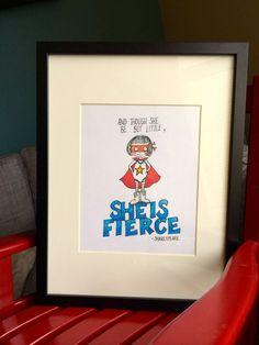 Children's Wall Art Print- Adventure Super Girl- Illustration for girl's room decor, super hero themed nursery on Etsy, $15.00