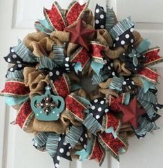 Burlap Wreath Welcome Wreath All Seasons by PJCreativeWreaths, $67.50