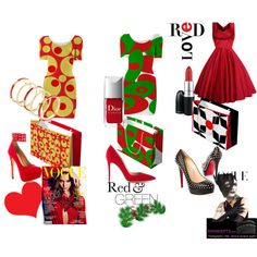 """""""Red Love - Bodycon dress fashions for her with matching gift bags"""" by Khoncepts. Present the entire outfit for her in a color coordinated gift bag!"""