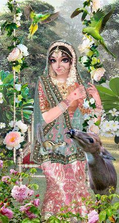 Sri Radha by Jadurani devi dasi. Radha Krishna Pictures, Radha Krishna Photo, Krishna Photos, Krishna Art, Radhe Krishna, Krishna Leela, Baby Krishna, Cute Krishna, Krishna Drawing