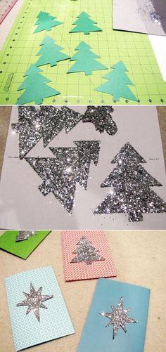 brillante bricolaje tarjeta de Navidad 27