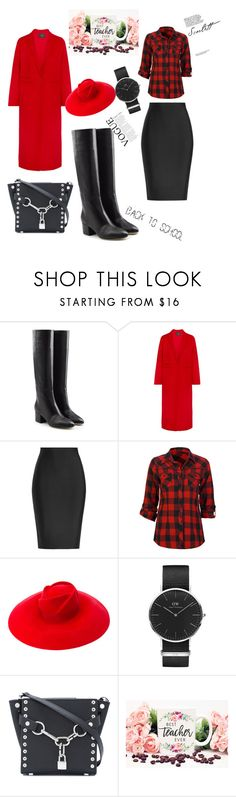 """""""Teacher look"""" by azradesing ❤ liked on Polyvore featuring Sergio Rossi, Maje, Roland Mouret, Full Tilt, Gucci, Daniel Wellington and Alexander Wang"""
