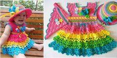 Baby crochet dress – Free Pattern  
