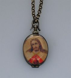Jesus Christ Sacred Heart Necklace Beautiful by LauraGraham, $48.00