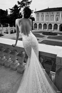 Halterneck sleeveless wedding dresses - Lace, Mermaid, Floor-length,