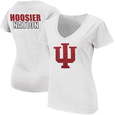 @Fanatics #FanaticsWishList Indiana Hoosiers Ladies Hoosier Nation Tone V-Neck T-Shirt - White