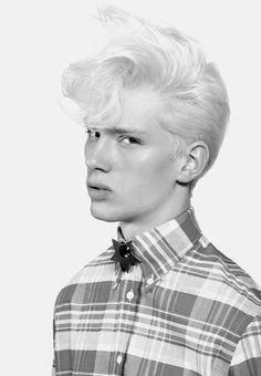 Floppy pompadour via Inspirational Hair